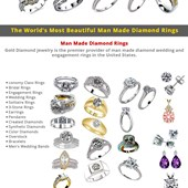 Man Made Diamond Ring